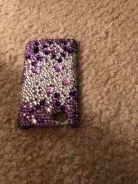 Purple and crystal phone case