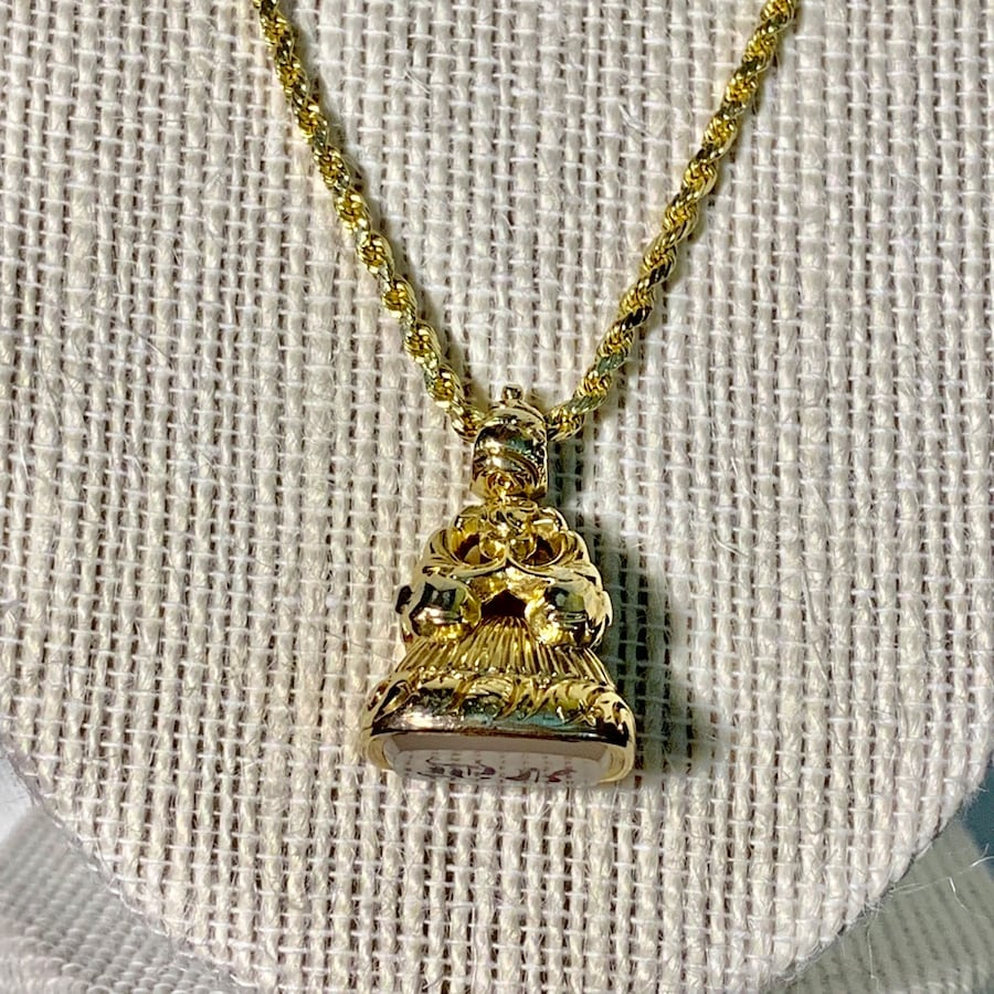 Antique 14k Yellow Gold Watch Fob Pendant with 14k Rope Chain 77de0701-4826-4aa3-a486-c97e502652ad