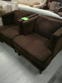 Brown club chairs