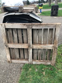Free pallet - very heavy, solid wood pallet