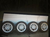 four silver vehicle wheels with tires screengrab Edmonton, T5E 4E5
