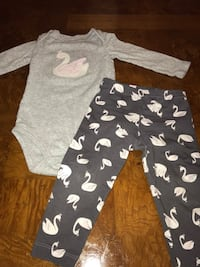Baby girl 12M swan outfit Aurora, 60504