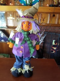 """FIBER OPTIC SCARE CROW - COLOR CHANGING - """"17"""" TALL - BATTERIES INCLUSED"""