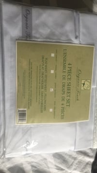 white Organic Touch 4-piece sheet set Woodstock, N4S 7G4