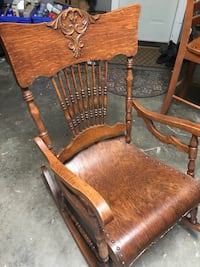 Brown wooden windsor rocking armchair Grimsby, L3M 2S1