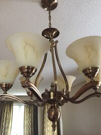 Gold plated uplight chandelier