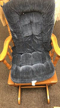 black and orange fabric rolling armchair 68 km