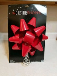 Large Christmas bow tree topper  1959 km