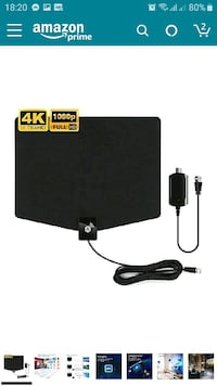 Amplified HD Digital TV Antenna Up to 120 Miles Range