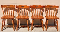Vintage Set Of 4 Solid-Wood European Tavern Chairs Made In Yugoslavia (Dining Room Kitchen Table) Brunswick, 31523
