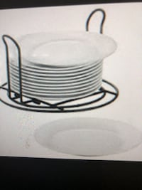 24 Porcelain Salad/Dessert Plates with Racks Germantown, 20874