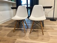 Pair of White Chair with Wooden & Metal Legs. Great conditions,barely used! Both for $80!! Los Angeles, 90024