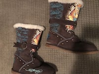 Ed Hardy Brown Suede Boots