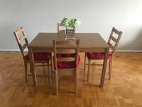 Cute Wood dining table set from ikea Toronto, M2N 5X7