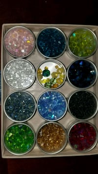 Set of 2 boxes of jars with beads  Fairfax, 22033