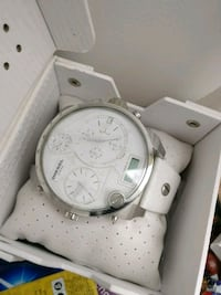 white diesel chronograph watch w/ leather strap Vancouver, V5S 1J1