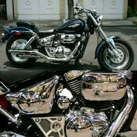 black and gray cruiser motorcycle collage Los Angeles, 90002