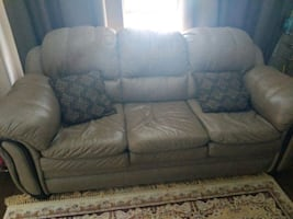 Olive Leather Sofas