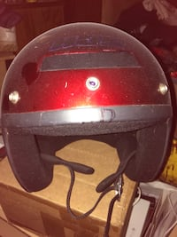 Red and black 3/4 open face helmet Pearl, 39208