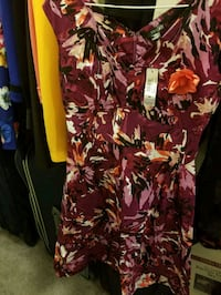 women's red and white floral dress Kitchener, N2M 5E6