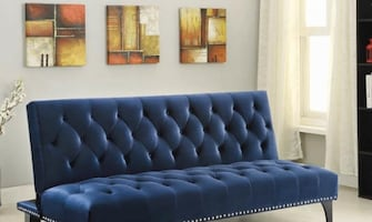 SOFA BED FUTON BLUE