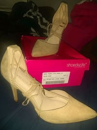 Shoedazzle Faith Nude Pumps