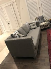 White and gray padded sofa armchair Oakville, L6L 1L3