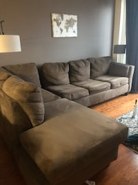 Brown Suede Sectional with Full Size Pull-Out Bed- Like New! Rockville, 20850