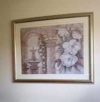 gold wooden framed painting