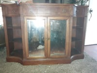 Beautiful antique mantle style  tv stand or dresser, also old mirror  Deptford Township, 08096