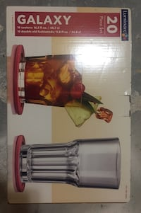 New - galaxy 20 piece glass and cooler set Duluth, 30097