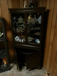 brown wooden china cabinet Ontario, P3E 2L4