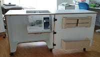 white with brown trim sewing / serger work station Killarney, R0K 1G0