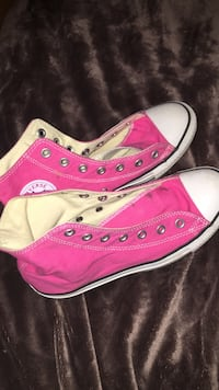 pink Converse All Star high top sneakers Evans, 30809