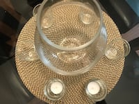 Large glass vase and tea light holders Burlington, L7S 2M4