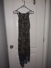 High low lacy black dress from Hollywood boutique Surrey, V3R
