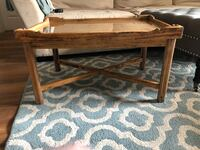"""""""32x22"""" Natural wood coffee Table with removable glass Ashburn, 20147"""