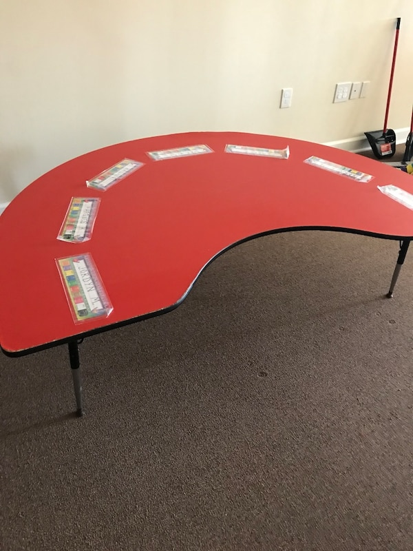 red and black poker table