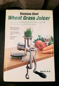 New Wheat Grass juicer stainless steel