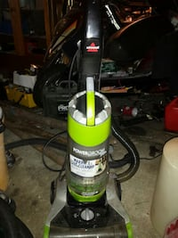 black and yellow upright vacuum cleaner Delta, V4C 3C3