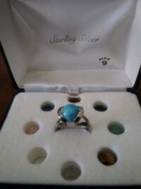 Sterling Silver Ring Interchangable stones size 9