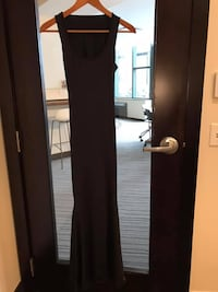 Long Black Formal Open-Back Sleeveless Gown | Sz-S | NO TAGS