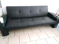 tufted black leather 3-seat sofa Bakersfield, 93307