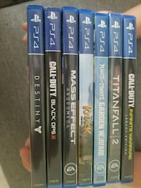 assorted Sony PS4 game cases Sherwood Park, T8A 0M5