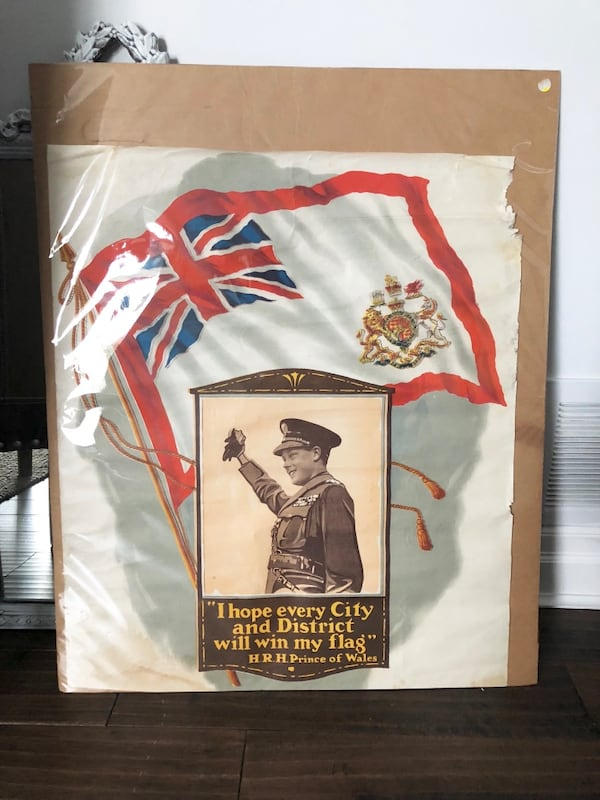 "Vintage 1919 Let Us Win Prince of Wales WAR POSTER 24x28"" 9977942e-f27d-4eed-be84-cf70b16951ec"