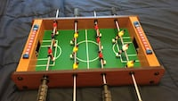 Green and brown foosball table Columbus, 43202
