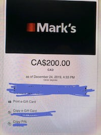 Mark's Warehouse Gift Card Edmonton, T6E 1Y6