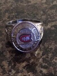 Montreal Canadian ring size 12 silver plated Edmonton, T5W 2X2