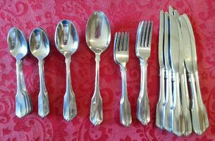 WM A Rogers Deluxe Stainless Flatware-46 Piece
