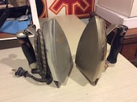 Two antique irons, electric, still work, makes great bookends! Markham, L3T 6Y6